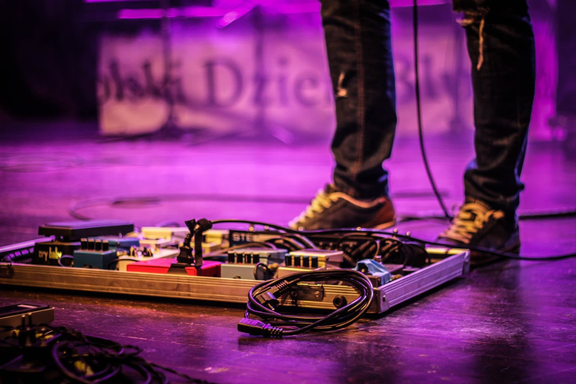 Wah Pedal on Guitar Pedalboard