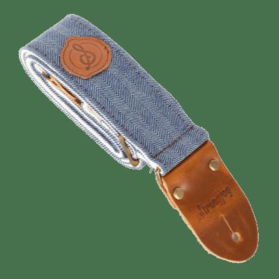 Stringjoy Denim Tweed Guitar Strap